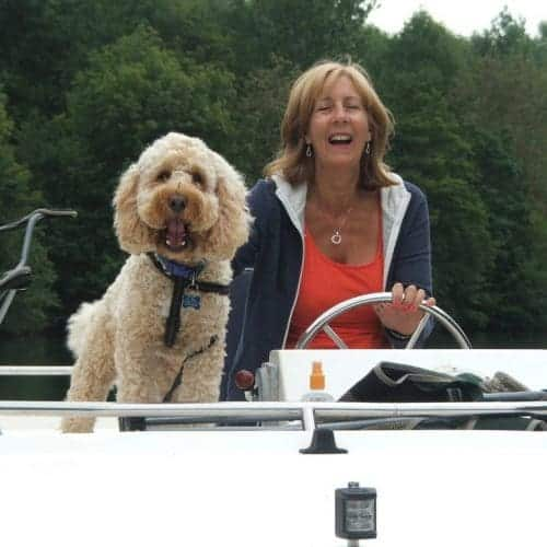 Captain dog with Paula
